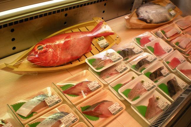 fish counter at the food hall